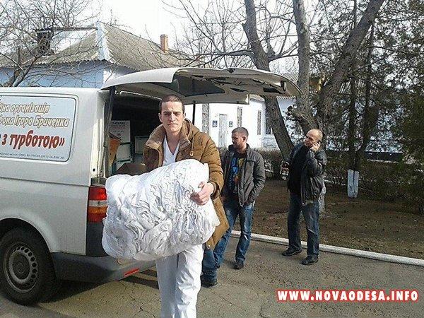 Скандальный нардеп Бриченко раздавал Новоодесситам очки, которые вредны для здоровья (Фото)