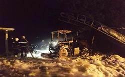 На трассе между Новой Одессой и Николаевом сгорел трактор (Фото)